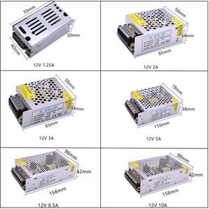 Image 2 - DC12V 1A 2A 3A 5A 8.5A 10A 15A 20A 30A الإضاءة المحولات LED سائق محول الطاقة للقطاع بقيادة مفتاح الإضاءة امدادات الطاقة