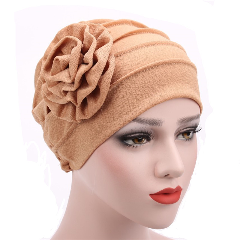 Women's Hats Spring Summer Floral Beanie Hat Muslim Stretch Turban Hat Cap Hair Loss Headwear Hijib Cap Women Women's Clothings Women's Scarf/Shawls/Caps