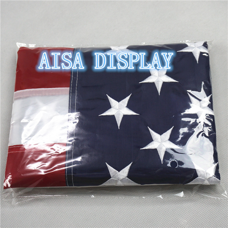 U.S. Nylon flag - 3x5 ft. American USA with Embroidered Stars and Sewn Stripes free shipping to USA