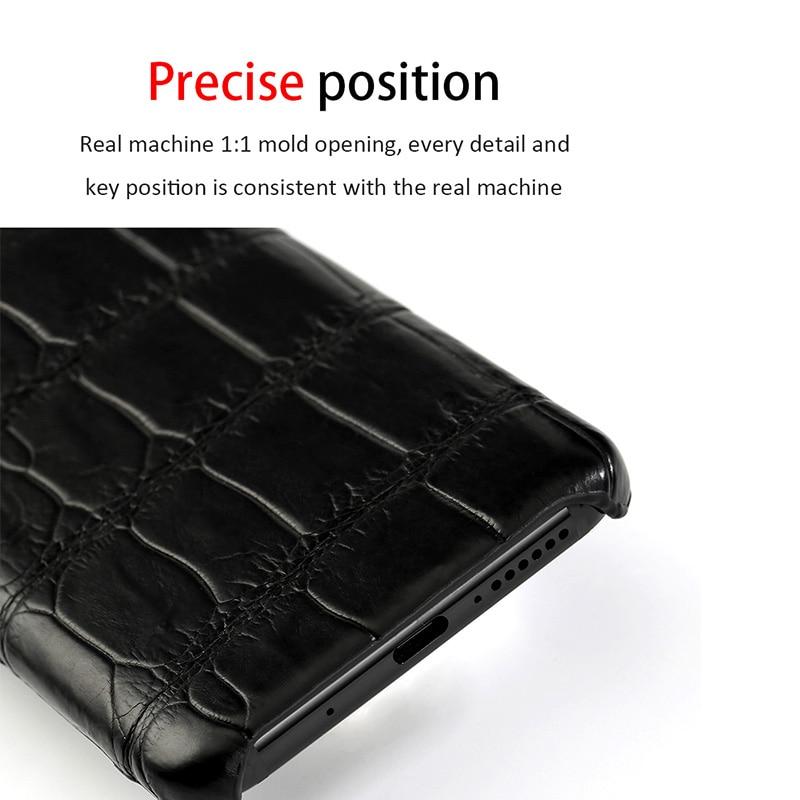 Natürliche krokodil leder Für Huawei p30 pro high end leder telefon fall für Huawei p30 P10 Lite p20 pro herbst schutz hülse - 3