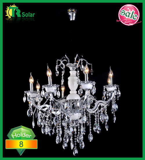 Free shipping Modern Crystal pendant chandelier lamp with 6 lights Ceiling fitting lantern for candle light bulb
