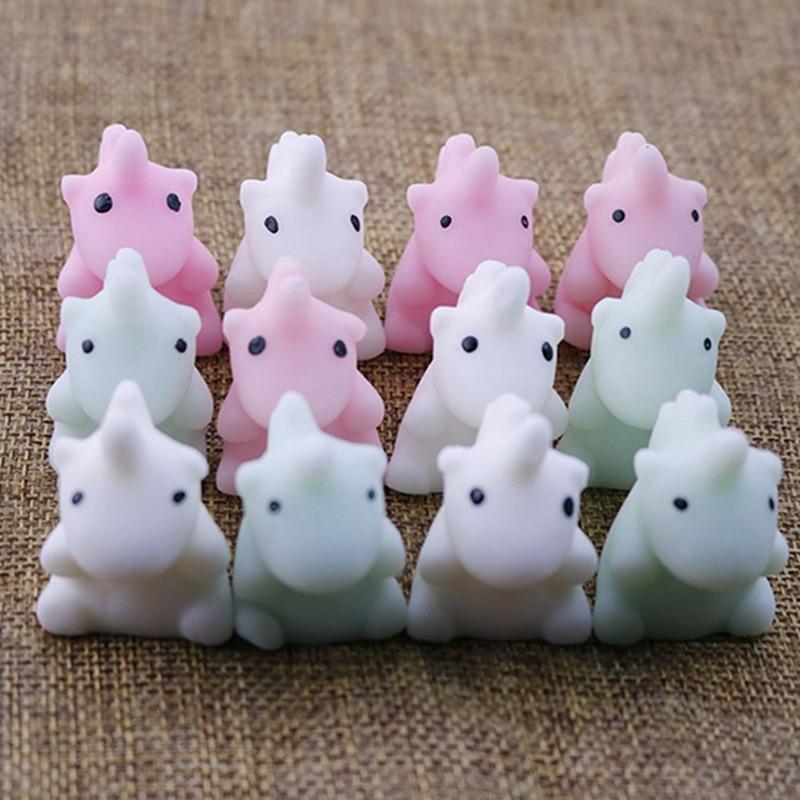 Anti Stress Hand Squeeze Unicorn Animals Models Accessories Slow Rising Press Soft Squishy Toy Cute Pet Mini