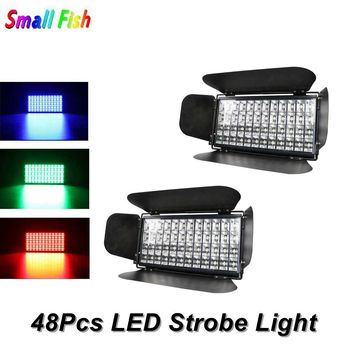 Color Music Control 48X3W RGB 3IN1 LED Stage Effect Lighting DJ Pro Party Show Strobe Light LED Flashlight DMX Disco Light Party 1200w dmx confetti blower stage effect cannon led 12x3w rgb confetti machine for disco party wedding show christmas decorations