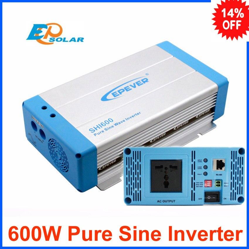 600W Inverter Pure Sine Wave EPEVER SHI600-12 off grid inverter DC to AC SHI600-22 24V to 220V 230V output 3000w wind solar hybrid off grid inverter dc to ac 12v 24v 110v 220v 3kw pure sine wave inverter
