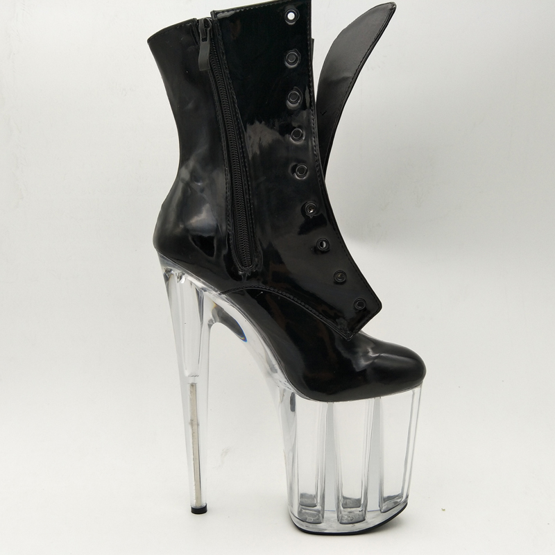 Laijianjinxia Mode Haut Cheville C011 Cm c015 20 Pole Dancing Chaussures Noir Bottes Pouces 8 Talon Plate forme Sexy Automne Femelle Hiver Femmes rrAqwfdX
