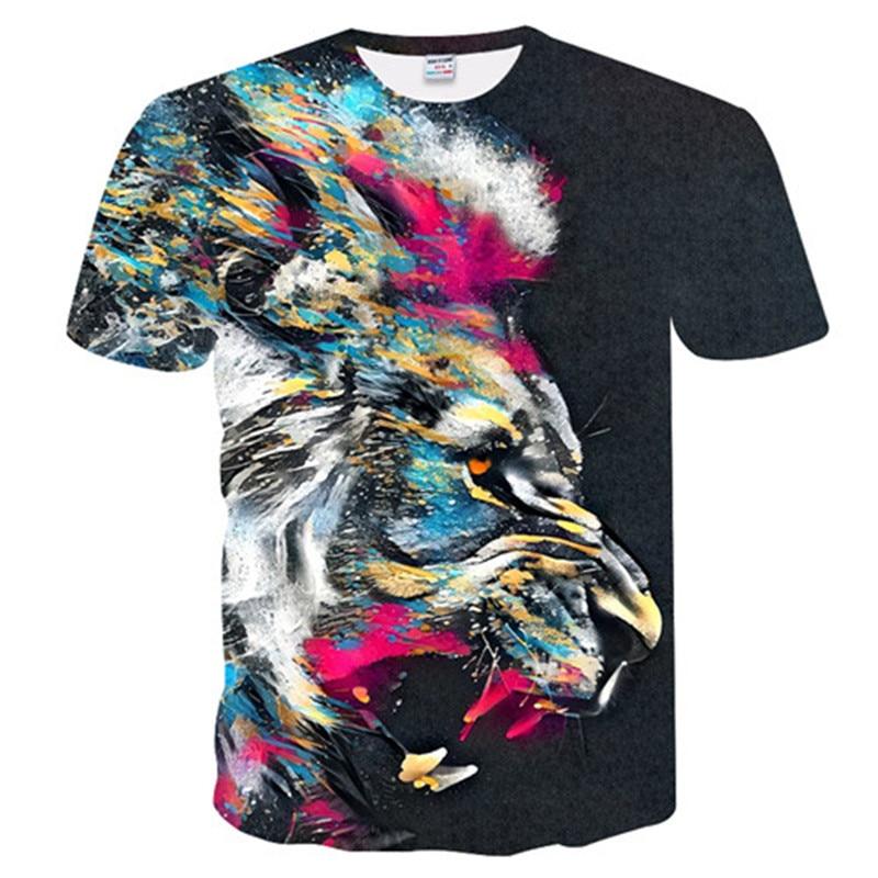 2018 The latest Harajuku Wolf 3D Print T-shirt Men's / Women's Summer Jacket T-shirt Short-sleeved T-shirt Fashion #21