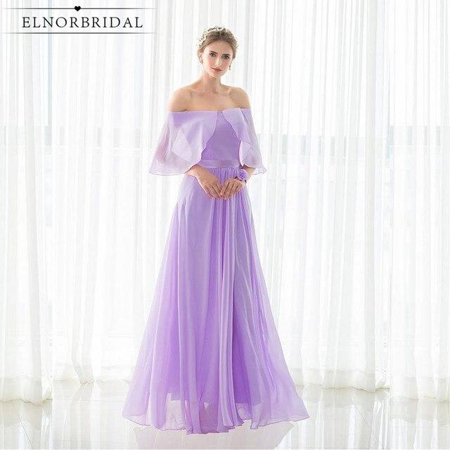 Lavendel Brautjungfer Kleider 2017 Trägerloses Eine Linie Chiffon ...