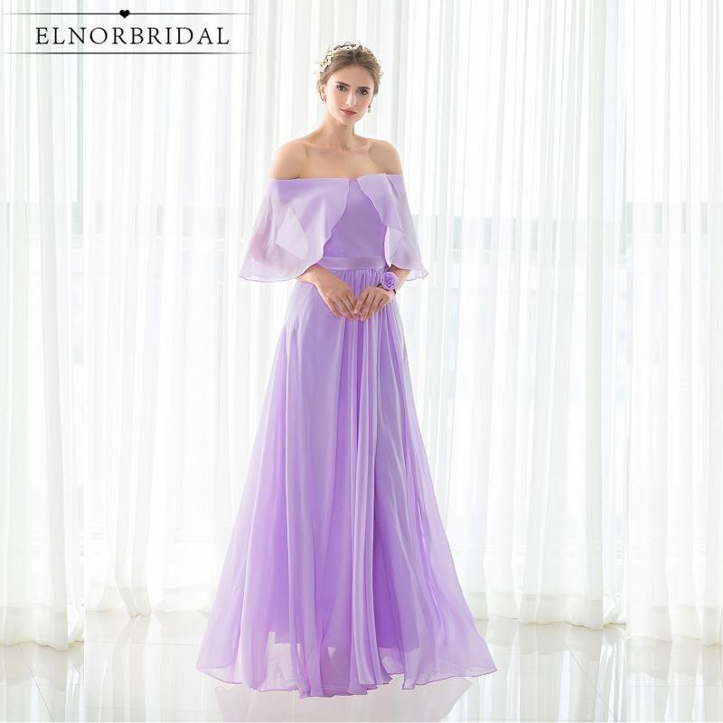 Lavender   Bridesmaid     Dresses   Cheap 2019 Strapless A Line Chiffon Robe Demoiselle D'honneur Maid Of Honor   Dress   Custom Made