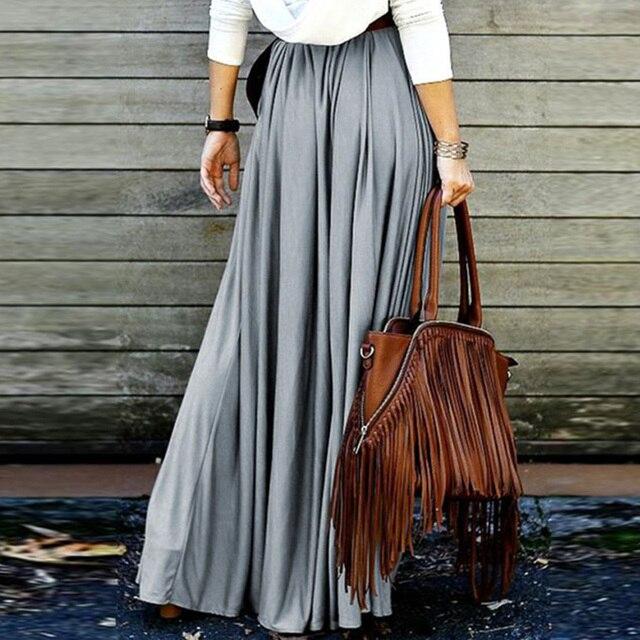 dcec49e83f3 2018 new Summer Womens Casual High Waist Long Maxi skirt Boho Long skirts