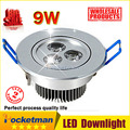 LED Ceiling Downlight 9W 3X3W 12W 4X3W 15W 5X3W LED Recessed Cabinet Wall Spot light Down Lamp Cold White Warm White