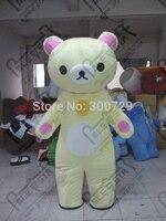 Экспорт высокого качества заказ мягких rilakkuma талисман костюм Relax Медведь Костюмы