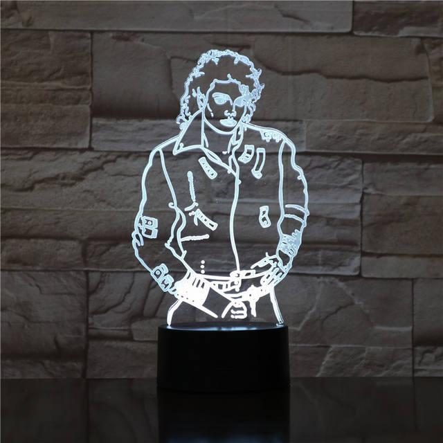 MICHAEL JACKSON 3D LAMP
