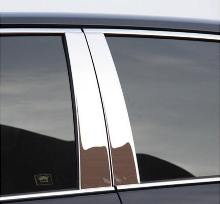 6 ピースクローム中央窓ピラー投稿トリムトヨタカムリ 2012 2013 2014 2015  グループ上の 自動車 &バイク からの クロムスタイリング の中 1