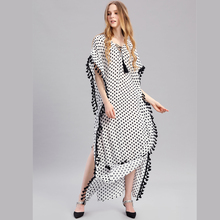 Plus Size Women Summer African Ethnic Print Kaftan Maxi Dress Summer Loose Vintage Boho Beach Long Dress