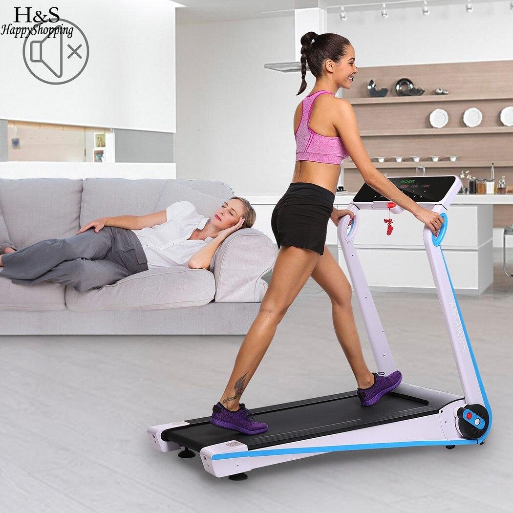 Ancheer США/ЕС Plug новейший складной Электрический беговая дорожка Fitness тренировки Третбана оборудования ходьба бег машины
