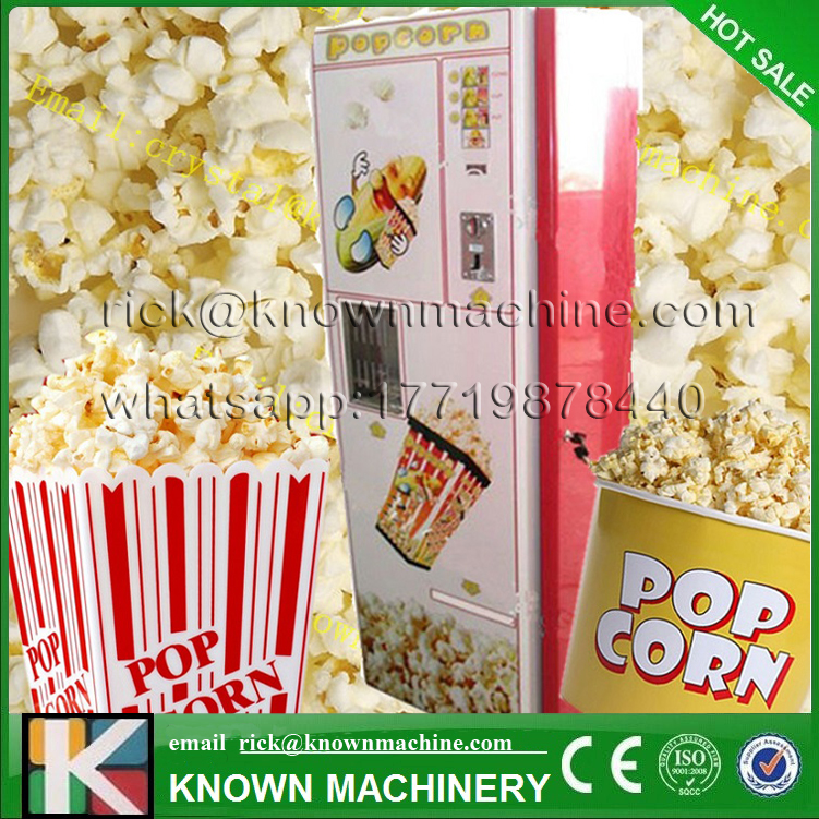 2017 the hot sale high quality automatic 220/110 V popcorn vending machine with CE certified