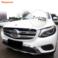 Car Sticker For AMG Logo Sticker Front Bumper Grille Trim Strips Cover for Mercedes Benz GLC W205 W202 W211 CLK S500 E320 W245