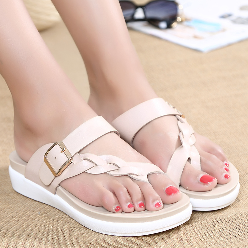 Flip Flops Women Beach Slippers Gladiator Sandals Platform Ladies Summer Flat Shoes Women Zapatos Mujer women summer slippers striped pattern indoor outdoor beach flip flops shoes women ladies wedges platform flip flops zapatos