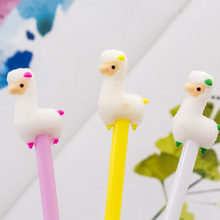 4pcs/lot Kawaii Alpaca Cartoon Animal Gel Pen For Writing Kids Gift Korean Stationery School Supplies