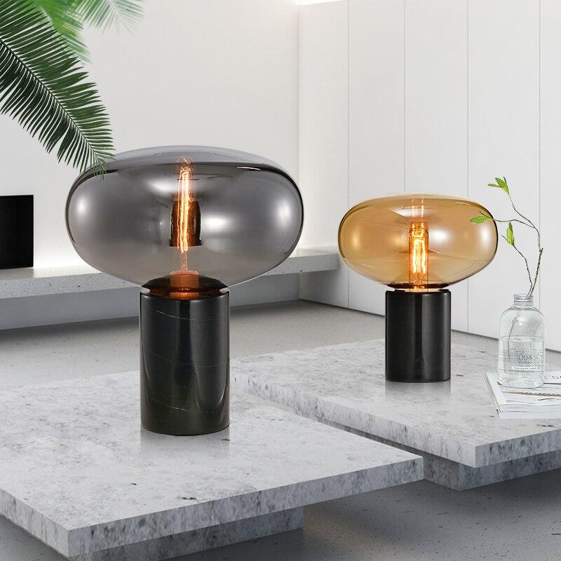 Nordic stil nacht lampe wohnzimmer glas hotel einfache post moderne schlafzimmer kreative büro zimmer lampe