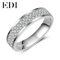 EDI Classic 14k White Gold Forever Brilliant Moissanite Diamond Wedding Ring Band For Women And Mens
