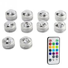 Погружные светодиодные чайные фонари Ванна Подводные светильники Водонепроницаемые SMD 3528 RGB