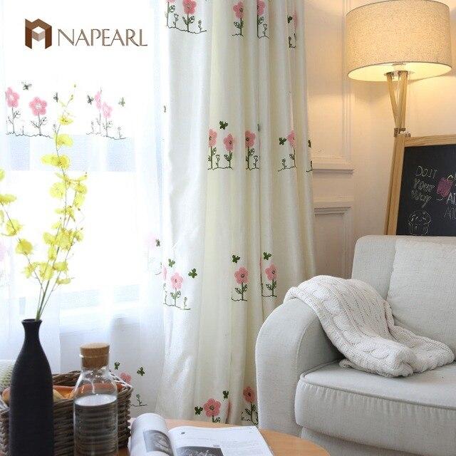 NAPEARL Bestickt rosa vorhänge kinderzimmer mädchen schlafzimmer ...