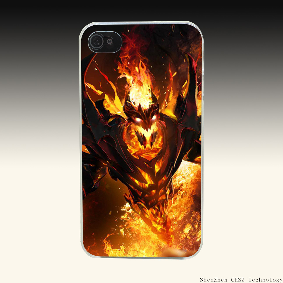1019O Shadow Fiend Dota Fashion Hard Clear Case Transparent Cover for iPhone 4 4s 5 5s SE 6 6s 7 Plus