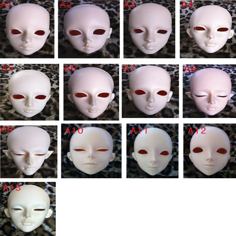 1/3 1/4 1/6 BJD SD doll single head face up pratice [wamami] aod 1 4 bjd dollfie girl doll parts single head not include make up meng ya qi