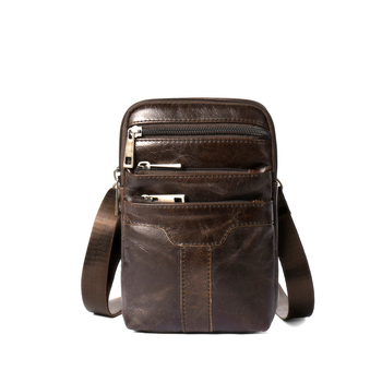 цена на New Arrivals Vintage Cross-body Bags Premium Genuine Leather Men Messenger Bag Mobile Phone Pockets High Quality Bolsa Masculina