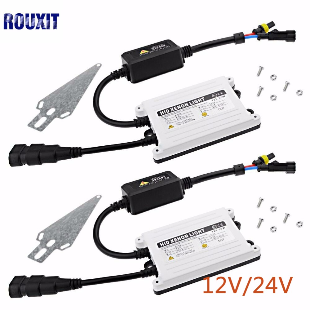 2psc 55W Slim HID Xenon Ballast Replacement Electronic Digital Conversion Ballast Kit Ignition Block for Automobiles