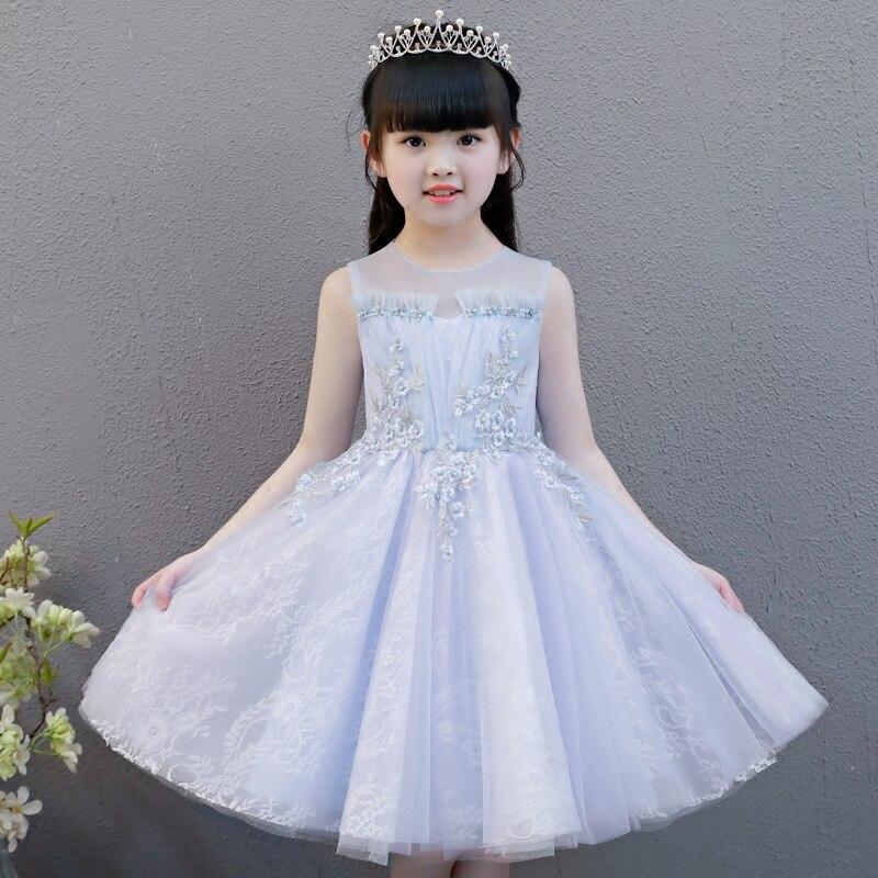 Christmas Flower Girl Ceremony Dresses Sleeveless Princess