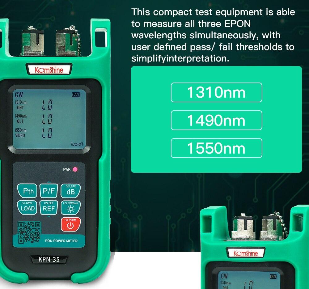 KOMSHINE KPN-35 PON power meter 1310/1490/1550 FTTH FTTX égale à JDSU OLP-35 Fiber producteur prix sur promotion