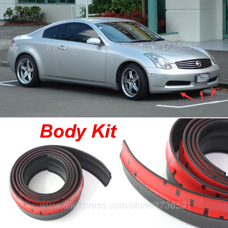 For Nissan Skyline GT R GTR R30 R31 R32 R33 R34 V35 / Bumper Lips / Spoiler / Front Tapes / Body Kit / Thick lips / Side skirts image