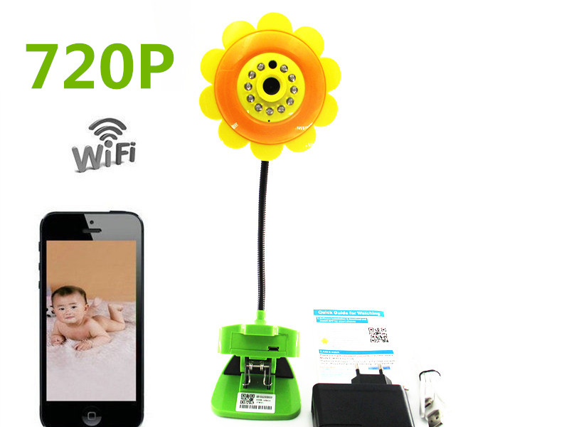 update 720P Baby Monitor Sunflower Home Security Wifi Camera DVR Night Vision For Smartphone