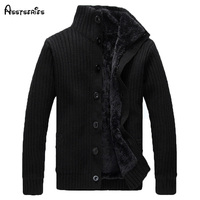 2015 Free Shipping High Quality Mens Thick Warm Sweaters Men Slim Casual Dress Knitwear Winter Sweater