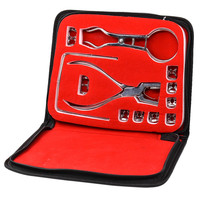 12 pieces/set Dental Rubber Dam Puncher Clamps Forceps Frame Punch Dental Dam Hole Puncher Dentist Tools
