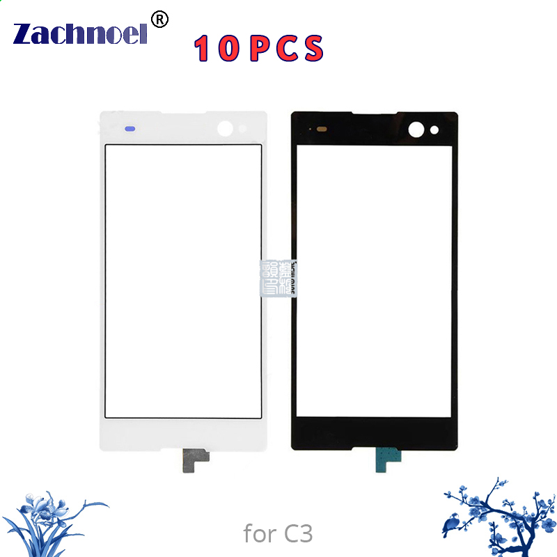 10pcs Zachnoel 5.5'' Touch for Sony Xperia C3 D2533 D2502 Touch Screen Digitizer Sensor Lens Front Glass Panel Replacement Parts