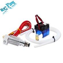 V6 экструдер J-головки hotend с вентилятором тефлон 0.4 мм удаленного части для 1.75 мм 3 мм нити 3D Принтер часть короткие термисторы 12V40W
