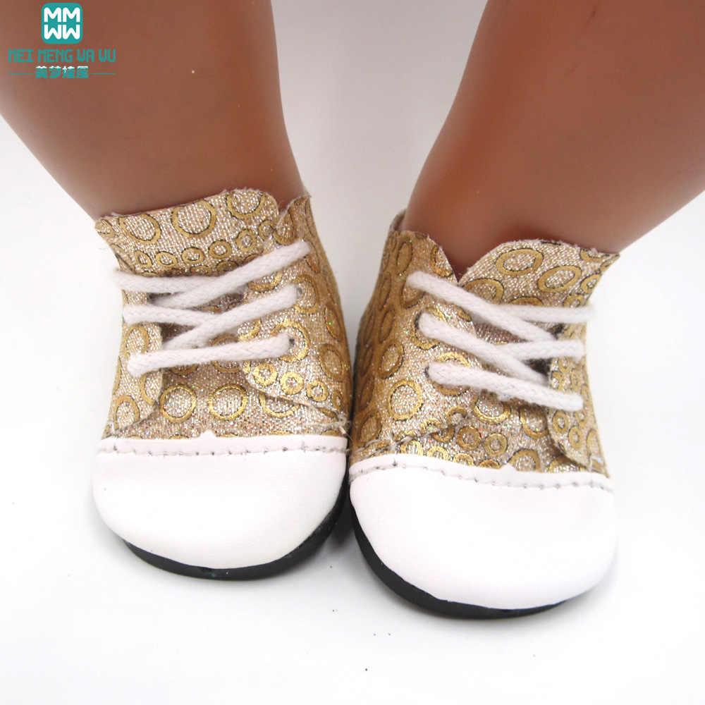 7 סנטימטר צעצוע תינוק לנעלי fit 43 cm חדש נולד בובת אופנה ספורט נעלי בובת אבזרים