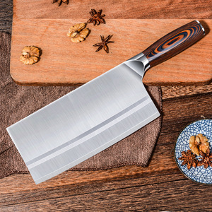 Image 4 - Timhome Stainless Steel  Meat Cleaver 8inch Chinese Knife Butcher Knife Chopper Vegetable Cutter Kitchen Chef Knife