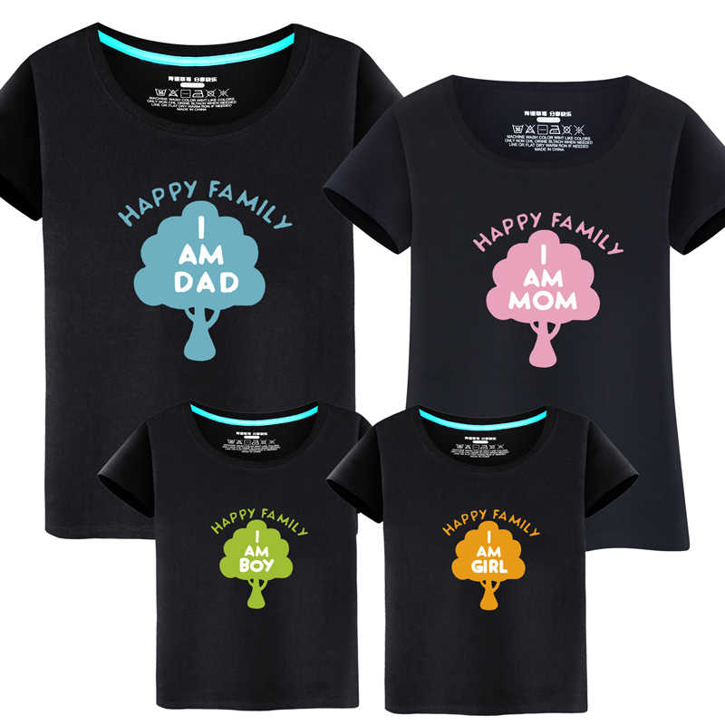582869206 Summer Matching Outfits Family Tshirt Mom Dad Son Daughter Clothes Boys and Girls  Short Sleeve T