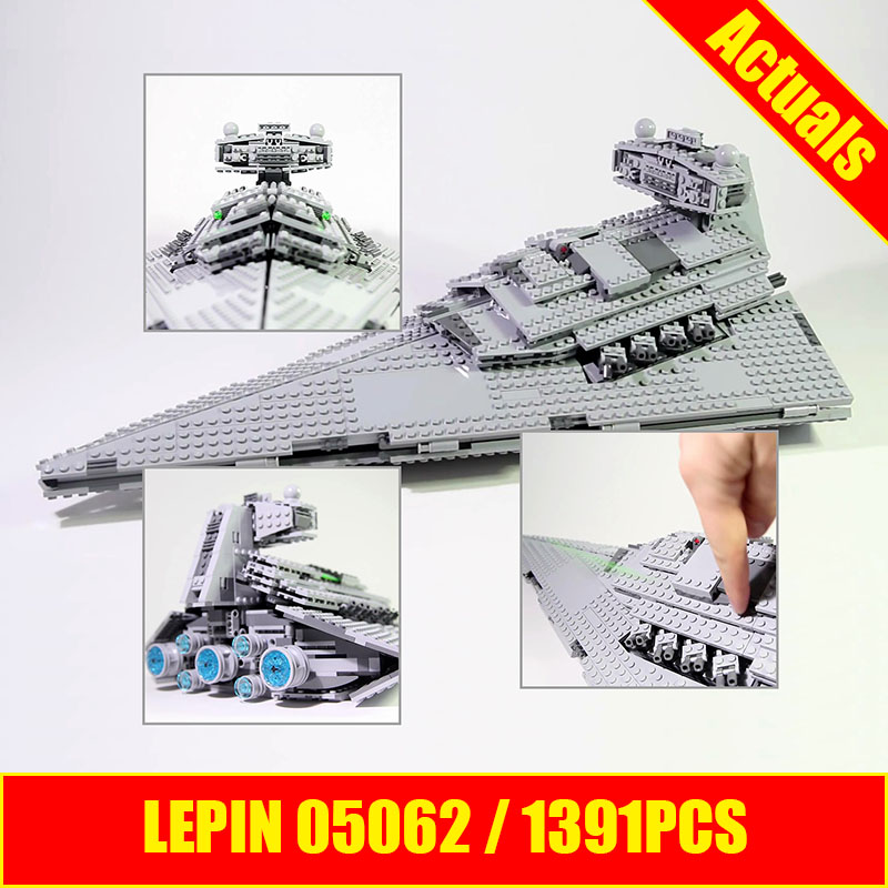 Lepin 05062 Star 1359pcs Wars Genuine Series Star Self-locking Destroyer Set 75055 Building Blocks Bricks DIY Educational Toys