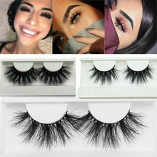 Natural Long 3D Mink Lashes Extra Length Eyelashes Big Dramatic 25Mm 100% Cruelty Free Handmade Fake