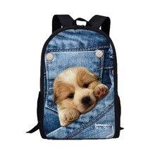 XINIU Школьные сумки для подростков школьная Рюкзаки женские 3D животных печати кошка собака Колледж студент рюкзак #480