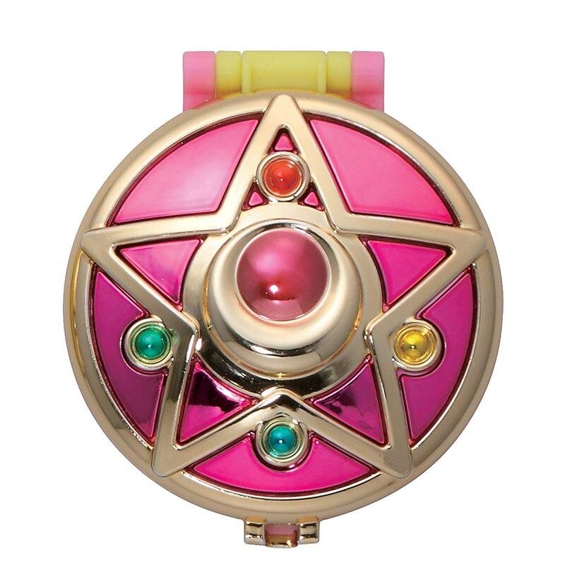 1 шт. гашапон Сейлор Мун трансформирующая компактная Хрустальная звезда компактное космическое сердце компактная брошь набор ювелирных изделий чехол игрушки - Цвет: Crystal Star Compact