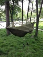 Outdoor Travel Camping Backpacking Portable Sleeping Hanging Bed Hammock W Bug Mosquito Net Military Jungle Freeshipping