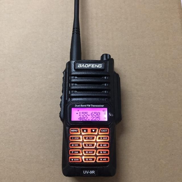 UV 9R 워키 토키 듀얼 밴드 400 520MHz VHF:136 174MHz 10KM 워키 토키 IP67 8W 워키 토키