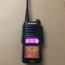 Walkie talkie UV 9R de doble banda, 400 520MHz, VHF:136 174MHz, 10KM, IP67, 8W