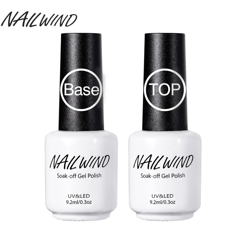 Nailwind 9 2ml Top Coat And Base Gels Nail Polish Long Acting Shiny Sealant
